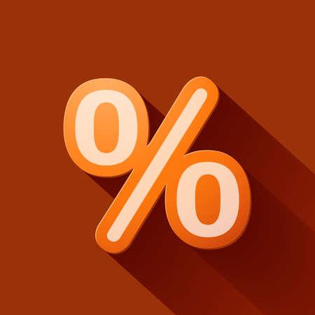 stock price losses: Volume icons symbol: Percent sign Illustration