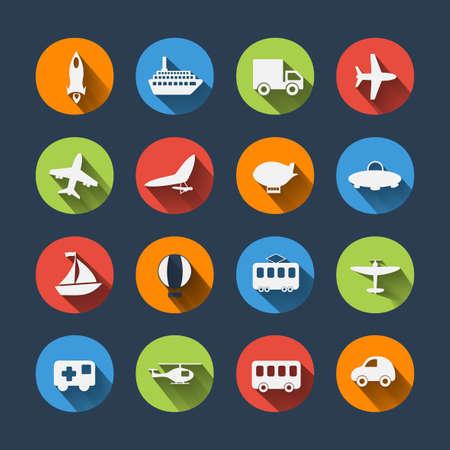 boeing: Paper clipped sticker: transport Set Illustration