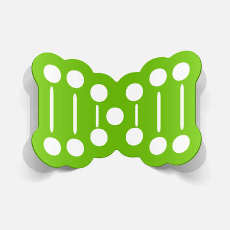 paper sticker: molecule and DNA set for biology or chemistry Vector
