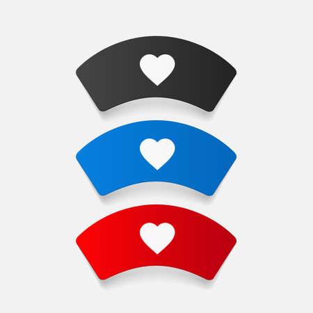 nurse cap: paper sticker: Nurse cap