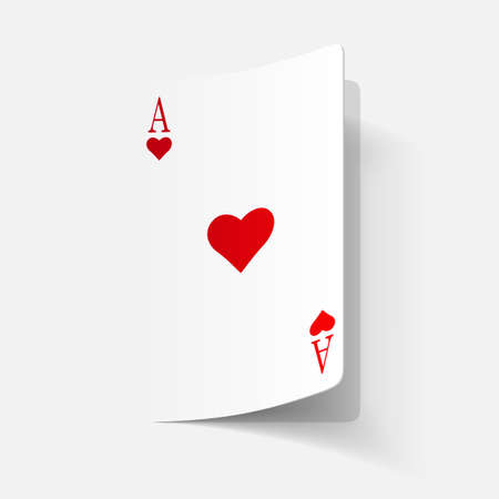 paper sticker: Playing Card Vector