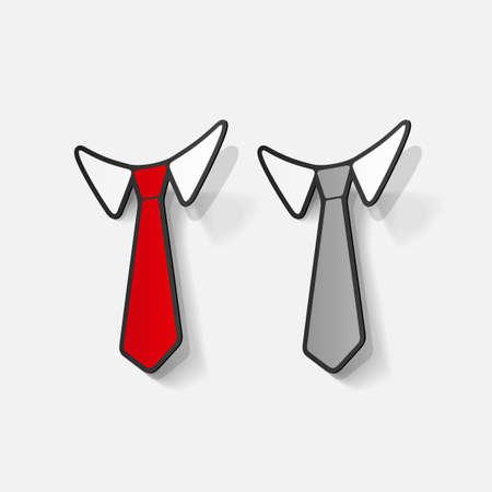 Realistic paper sticker: necktie Illustration