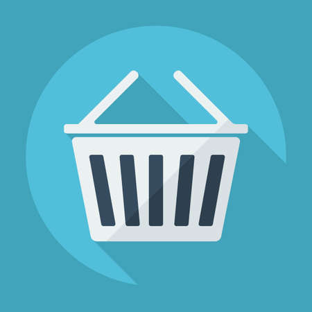 consumer: Flat modern design with shadow consumer basket