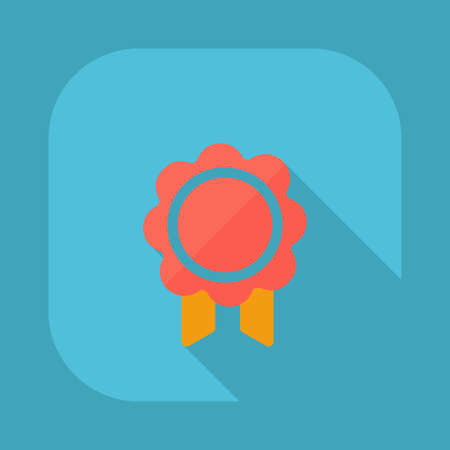 honor: Flat modern design with shadow vector icons: badge of honor