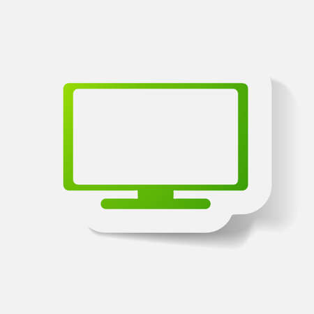 plasma: Paper clipped sticker: plasma. Isolated illustration icon