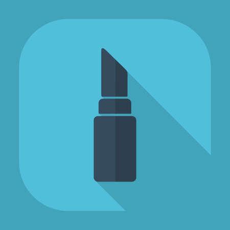 bright lipstick: Flat modern design with shadow lipstick