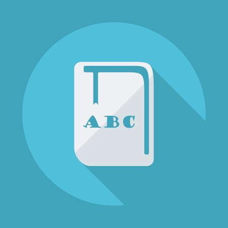 cartilla: Dise�o plano moderno con iconos sombra vector: libro de texto, una cartilla Vectores