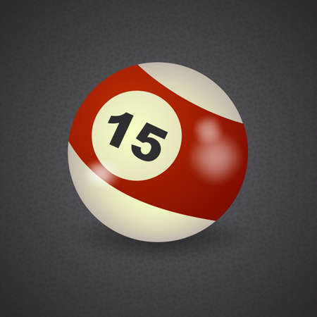 number 15: set of billiard balls, billiards, American ball number 15