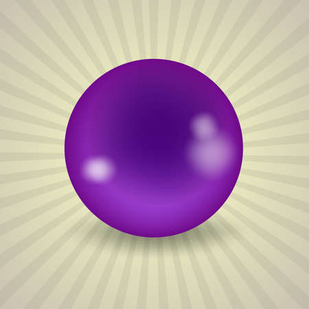 pocket billiards: set of billiard balls, billiards, American purple ball Illustration