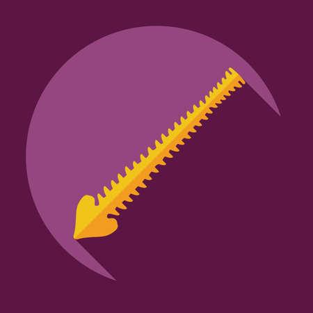 vertebra: Flat modern design with shadow icons spine
