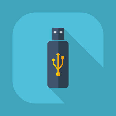 modern business: Flat modern design with shadow vector icons :USB