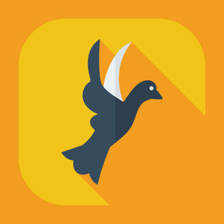 dove flying: Flat modern design with shadow icons dove