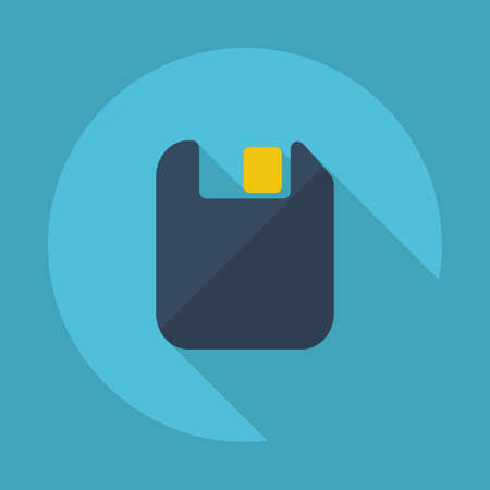 diskette: Flat modern design with shadow vector icons: diskette Illustration