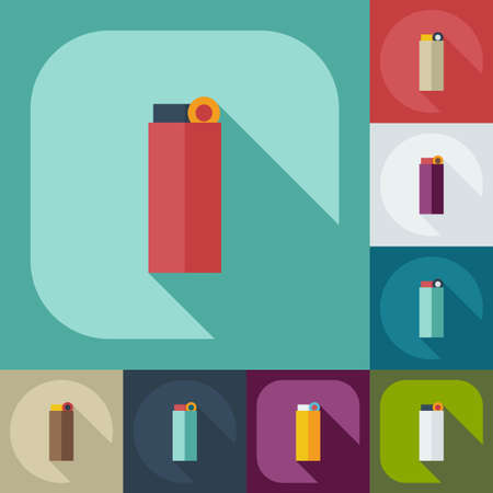 ljusare: Flat modern design with shadow icons lighter Illustration