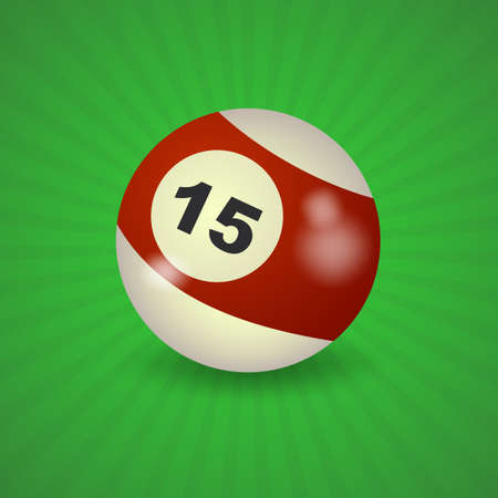 pocket billiards: set of billiard balls, billiards, American ball number 15
