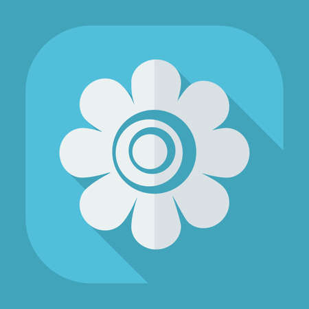 lotus flowers: Flat modern design with shadow icon flower