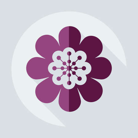 Flat modern design with shadow icon flower