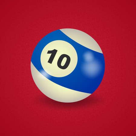 number 10: set of billiard balls, billiards, American ball number 10