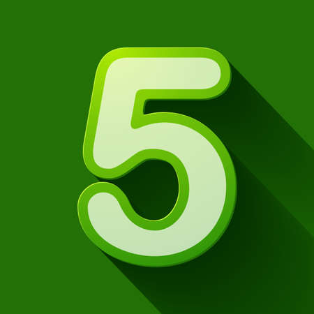 number five: Volume icons number: five . Colorful modern Style. Illustration