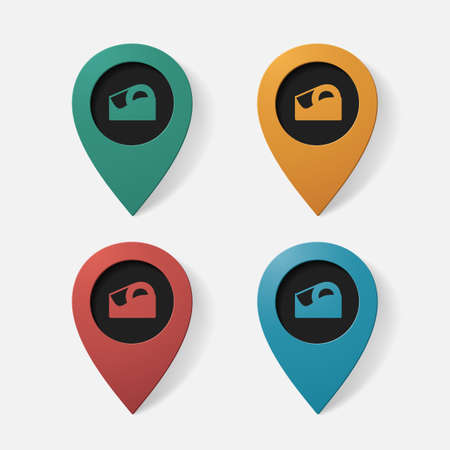 scotch: Realistic color pointer: Scotch tape. Isolated illustration icon Illustration