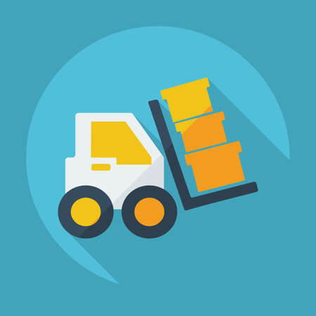 transporter: Flat modern design with shadow transporter Illustration