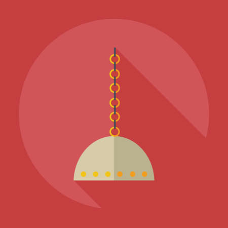 narghil�: Flat modern design with shadow icons parts hookah