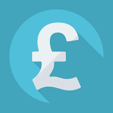 Flat modern design with shadow pound sterling Illustration