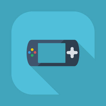 portable console: Flat modern design with shadow icons: game console