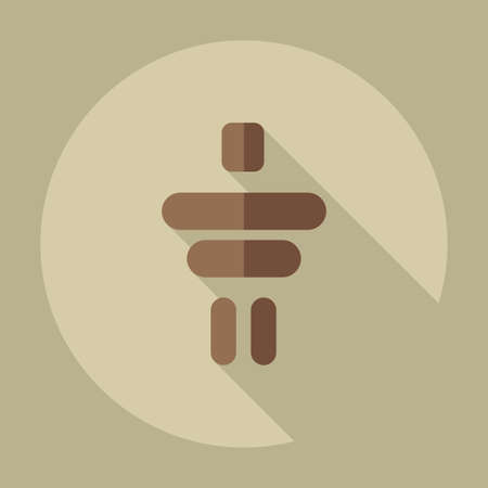 inukshuk: Flat modern design with shadow icons Inukshuk