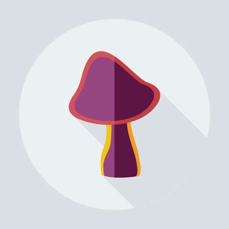 cep: Flat modern design with shadow icons mushroom