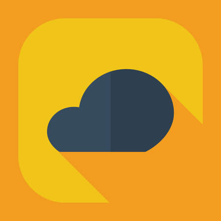 space program: Flat modern design with shadow icons cloud