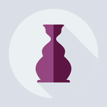 hooka: Flat modern design with shadow icons parts hookah