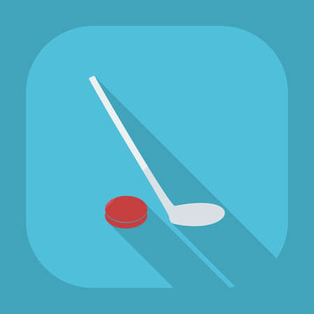 shadow people: Flat modern design with shadow icons hockey