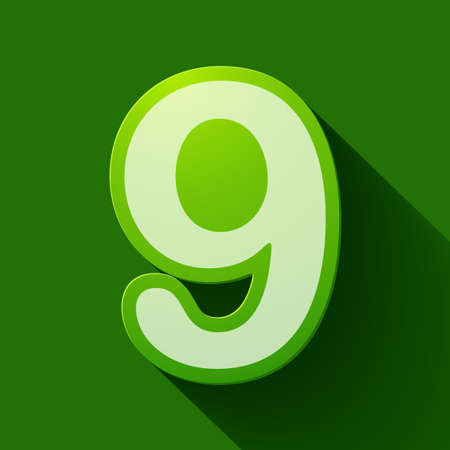 ninth: Volume icons number: nine. Colorful modern Style.