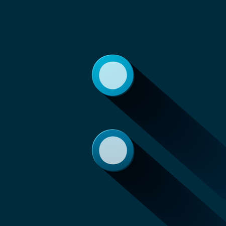 colon: Volume icons symbol: Colon . Colorful modern Style. Illustration