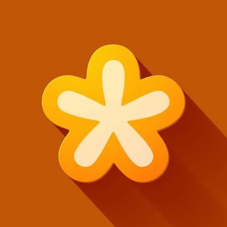 asterisk: Volume icons symbol: asterisk . Colorful modern Style. Illustration