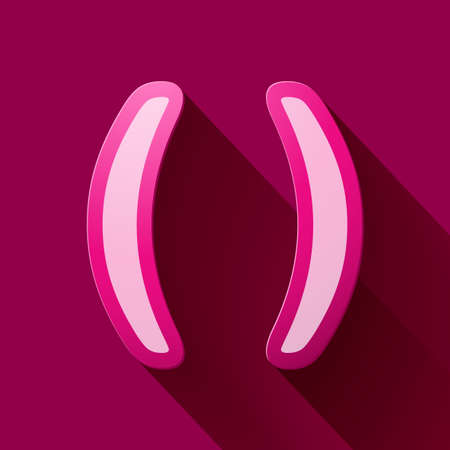 parentheses: Volume icons symbol: Parentheses . Colorful modern Style.