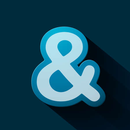 ampersand: Volume icons symbol: ampersand. Colorful modern Style. Illustration
