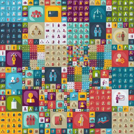 Platt modern design med skugga ikoner företagsikon