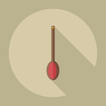 ladle: Flat modern design with shadow icons soup ladle