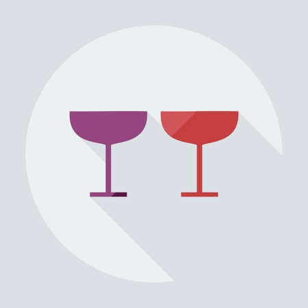 wineglass: Flat modern design with shadow icons wineglass