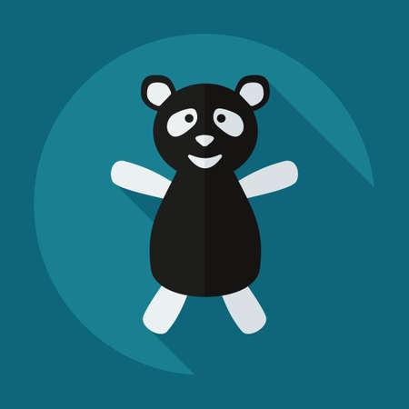 brute: Flat modern design with shadow icons panda athlete Illustration