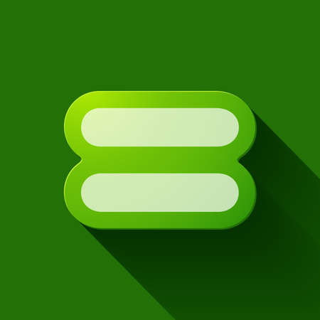 Green Equal Sign
