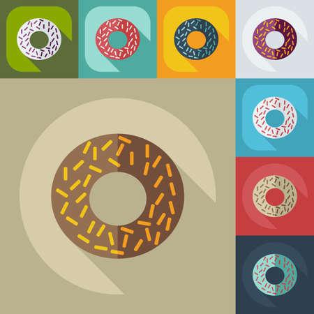 sweetness: Flat modern design with shadow icons sweetness