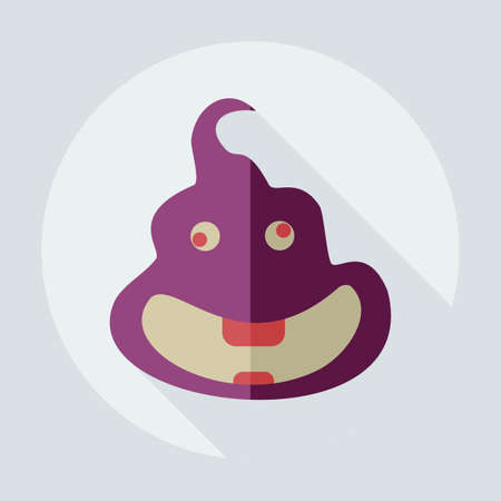 faeces: Flat modern design with shadow icons turd, faeces