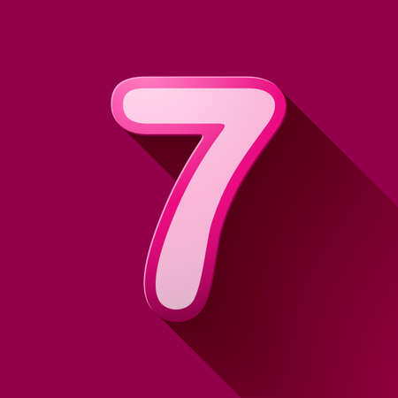 seven: Volume icons number: seven. Colorful modern Style.