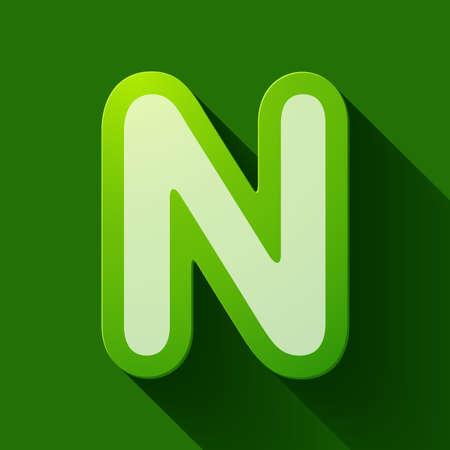 letter n: Volume icons alphabet: N . Colorful modern Style. Illustration