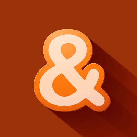 custom letters: Volume icons symbol: ampersand. Colorful modern Style. Illustration