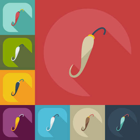 chilly: Flat modern design with shadow icons hot peppers Illustration