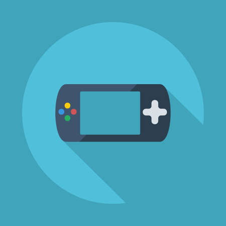 portable console: Flat modern design with shadow vector icons: game console Illustration